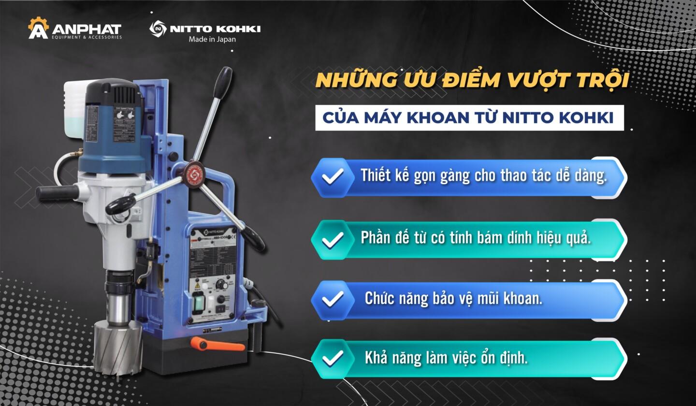 Máy khoan từ Nitto Kohki – Lựa chọn đúng đắn của những người thợ cơ khí